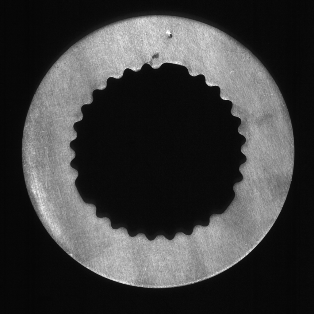 Flat metal part with 2D surface defects