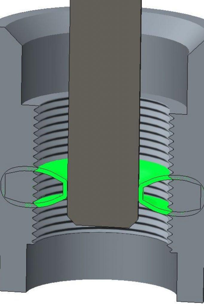 IIT principle of capacitive thread measurement