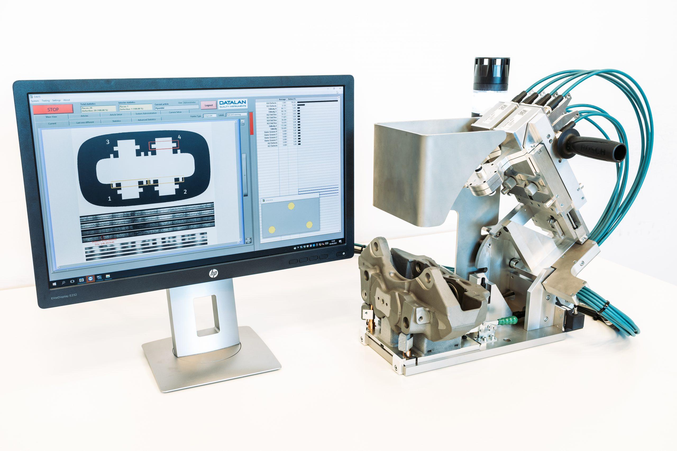 Manual Nanocamera Station for Braking Caliper Grooves Inspection